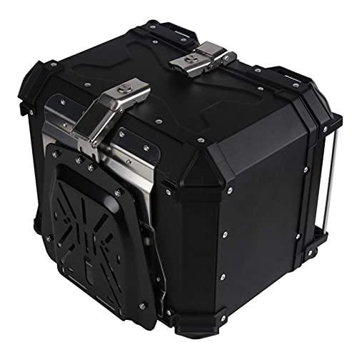DCHENZI Motorcycle Trunk, Motorcycle Box 45L-65L Universal Motorcycle Rear Luggage Trunk Fit for BMW Kawasaki Yamaha Storage Moto Top Case Tool Box Waterproof Helmet,Motorcycle Trunk (Color : 65L)