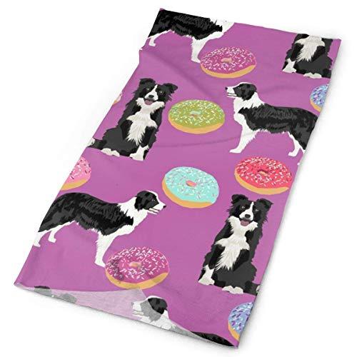 Border Collie Donuts Tessuto Carino Donut Design Migliore Trapuntatura Cane Tessuto Bordura Collie...