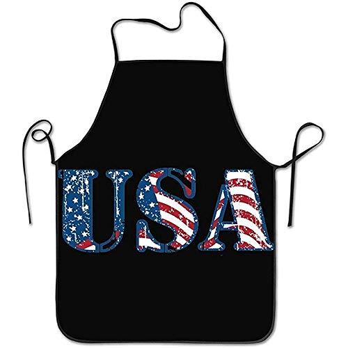 Niet geschikt schort Usa Amerikaanse vlag design onafhankelijkheidsdag geschenk blokkering rand kip kookschort unisex bib chef-schort kookschort instelbaar