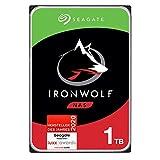 Seagate IronWolf, NAS interne Festplatte 1 TB HDD, 3,5 Zoll, 5900 U/Min, CMR, 64 MB Cache, SATA 6 GB/s, silber, FFP, inkl. 3 Jahre Rescue Service, Modellnr.: ST1000VNZ02