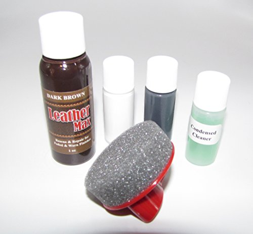 Leather Repair, Refinish, Restore Kit/Leather Max Touch-up for Leather & Vinyl Refinishing (Dark Brown)