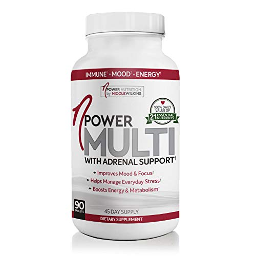 nPower Nutrition Multivitamin with Adrenal Support, Stress & Immune Support, Energy & Metabolism Booster, Gluten Free, 90 Tablets