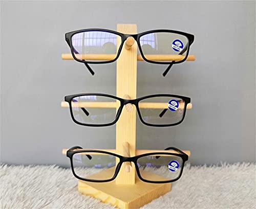 Fmtop-JP 眼鏡スタンド メガネ サングラス スタンド 眼鏡置き 掛け メガネ 収納 木製 コレクション 1/2/3/4/5/6/8/10/12本用 天然素材 無垢材 ベージュお店用 ディスプレイ用品 展示用スタンド (3本用3段ラック)