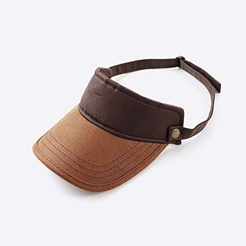 WDRSY Sombrero de Visera Ajustable para Hombres Casual Summer Beach Sun Cap Moda Mujer Sombreros de Golf de Hueso Protección UV para Exteriores Gorras de Tenis Deportivas-UNA_Ajustable