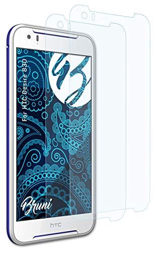 Bruni Schutzfolie kompatibel mit HTC Desire 830 Folie, glasklare Bildschirmschutzfolie (2X)