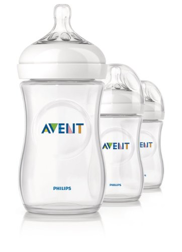 Philips Avent 8710103562047 Babyflaschen Set NATURNAH Flaschenset, 3x260 ml, transparent
