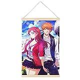 VGFD Amy Bellet Hd Anime Art - Póster colgante con marco de pergamino de lienzo para pared, decoración del hogar, 24 x 36 pulgadas