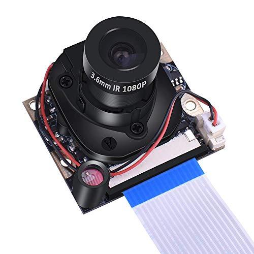 JINHONGH Día visión Nocturna 5MP módulo más Clara la cámara del reemplazo 1080P IR Cut Cambio automático Accesorios Webcam for Frambuesa