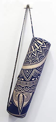 Indian Craft Castle Flower Hippie Yoga Mat Carrier Bag with Shoulder Strap Yoga Mat Bag...