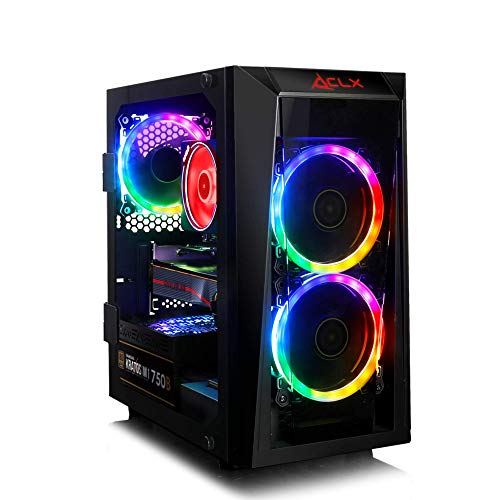 CLX Set, Elite Gaming PC, AMD Ryzen 7 3800X 3.9GHz 8-Core, Wraith Prism RGB, B450 MATX, 16GB DDR4 RGB, Radeon RX 5700 XT 8GB, 240GB SSD + 2TB HDD, WiFi, Black Mini-Tower RGB Fans, Windows 10 Home