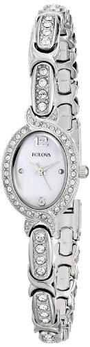 Bulova Women's 96L199 Swarovski Crystal Stainless Steel Watch