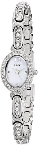 Bulova Women's 96L199 Swarovski Crystal Stainless Steel Watch