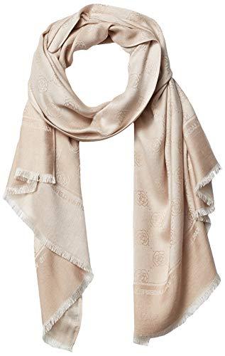 Karl Lagerfeld Paris Damen Rose Floral Quilted Viscose Pashmina Scarf Schal für kaltes Wetter, Barley, Einheitsgröße