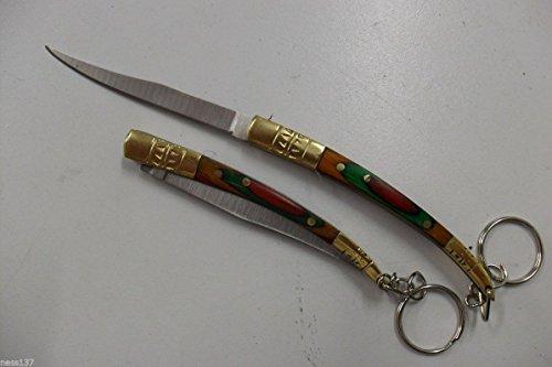 La Petite Caverne- Petit Couteau de Poche Lame Fine Acier 6,5 cm Manche Bois 8,5 cm Style Canif