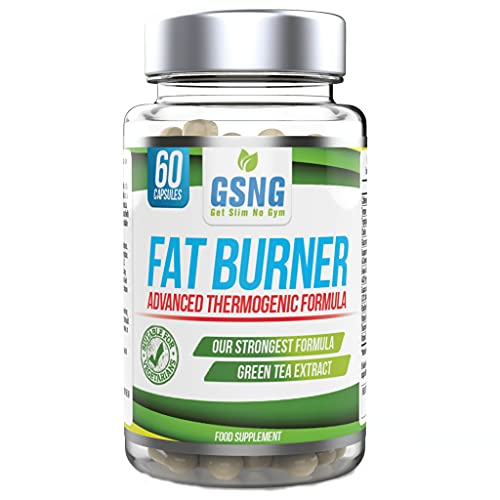 Fat Burner Weight Loss Pills – Metabolism Booster, Appetite Suppressant - Green Tea Extract Lean Slimming Diet Supplement for Men & Women - UK Premium Manufacture - 60 Vegetarian Capsules – GSNG