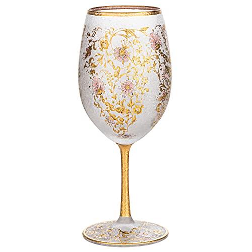 Arabesque Gold Premium Japanese Wine Glass