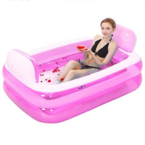 Chicti Opblaasbare badkuip, twee lagen opvouwbare verdikking voor volwassenen, met elektrische pomp, privé-zwembad, kinderbadje