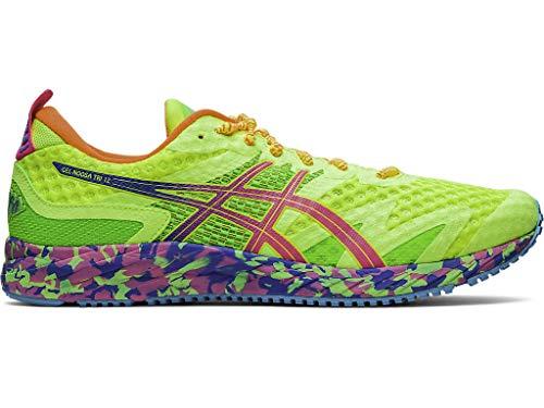 ASICS Men's Gel-Noosa Tri 12 Running Shoes, 11, Safety Yellow/HOT Pink