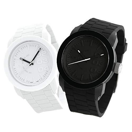 [ディーゼル]DIESEL 腕時計 ペアウォッチ ペアボックス付き ラッピング付き 男女兼用 ブラック×ホワイト 黒 白 DZ1437 DZ1436 メンズ レディース