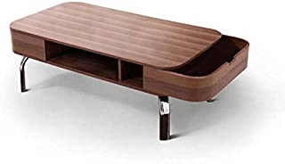 Berkley Mid-Century Modern Walnut Veneer Coffee Table With 2 Removable Side Pockets
