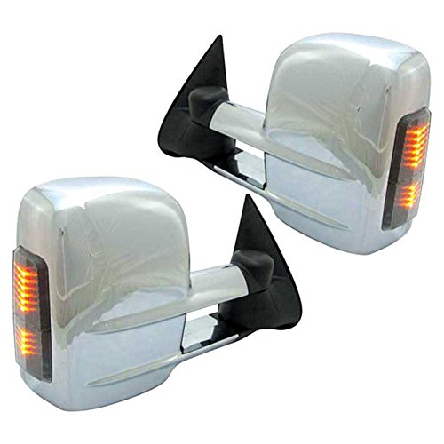 Best Buy! Upgrade Your Auto Premium FX Chrome Power/Heated Tow Mirrors w/Signal for 2000-2002 GMC Yu...