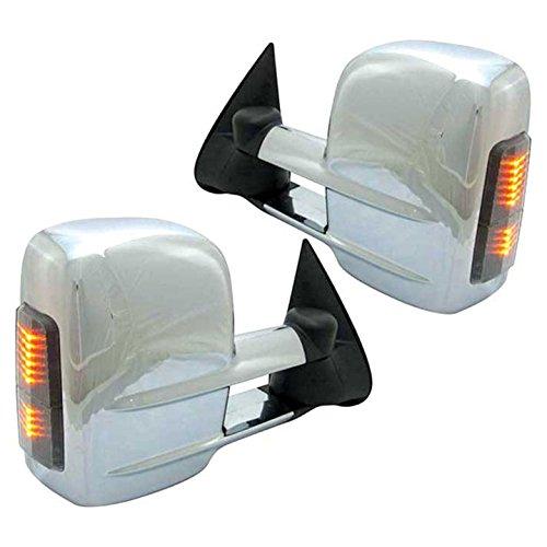 Best Buy! Upgrade Your Auto Premium FX Chrome Power/Heated Tow Mirrors w/Signal for 2000-2002 GMC Yukon XL