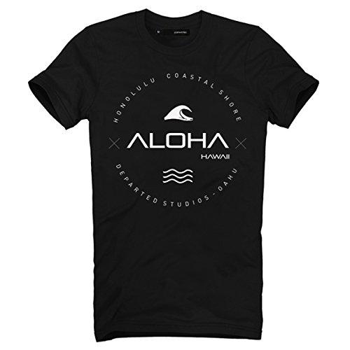 DEPARTED Herren T-Shirt mit Print/Aufdruck 3546-010 - New fit Größe M, Black
