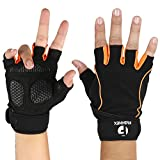 FASHNEX Gym Gloves for Weightlifting, Crossfit, Fitness and Sports with Wrist wrap Support