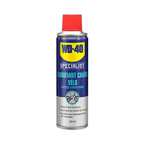 WD-40 Bike • Lubrifiant Chaîne Toutes Conditions • Aérosol • Formule au PTFE pour empêcher l'adhérence des saletés • Protection anticorrosion • Réduit les points de friction • 250 ML