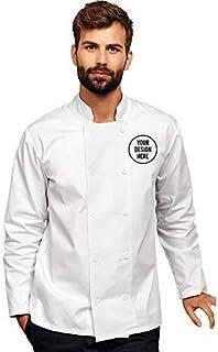 Unisex Giacca Maniche Corte da Chef Bottoni Automatici Premier