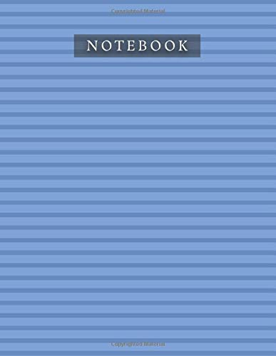 Notebook Cobalt Blue Color Horizontal Line Baby Elephant Pattern Background Cover: A4, Journal, 110 Pages, 21.59 x 27.94 cm, Planner, 8.5 x 11 inch, Daily, Life, Bill, Organizer