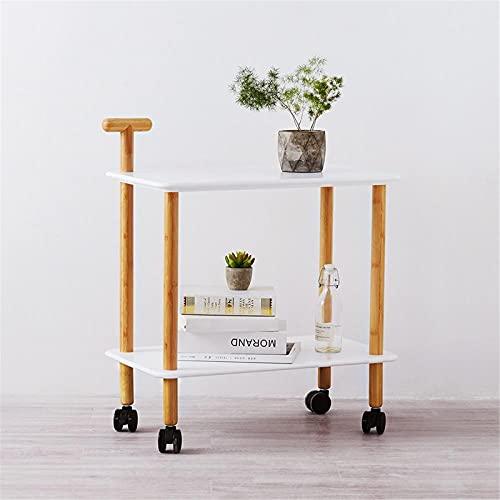 Mesa de centro multifuncional movible doble capa almacenamiento café mesa de madera para la sala de estar casera