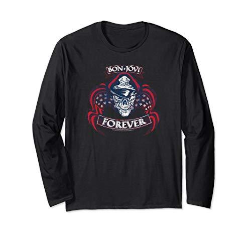 Bon Jovi Forever Skull Long Sleeve Unisex Shirt, S to 2XL
