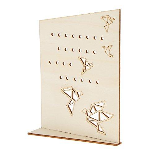 D dolity joyas Soporte de escritorio de madera para pendientes, pendientes pernos, regalo para mujer