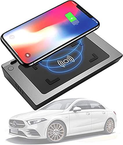 Soporte para Teléfono de Coche para Mercedes-Benz a Clase B Clase GLB 2019 2020 Cargador Inalámbrico de 15 W con USB QC3.0 y Cargador de Coche PD de 18 W Accesorios de Consola Central para iPhone