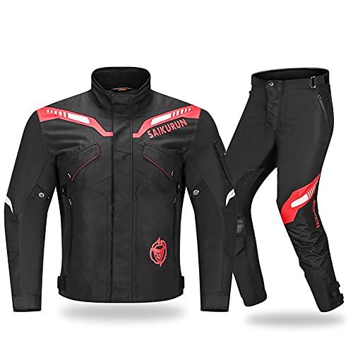 LITI Damen Motorradkombi 2-teiliger Motorradjacke Und Motorradhose Mit CE Protektoren Textil - Wasserdicht Winddicht Sommer Atmungsaktive