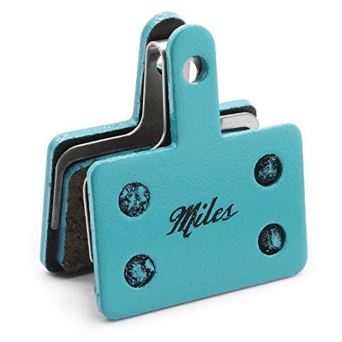 Miles Racing ® Scheibenbremsbeläge, semi-metallisch für Shimano Deore BR-M525, 575, 486, 485 Hydraulic, Shimano Deore 515, 416, Tektro Auriga Comp, Pro