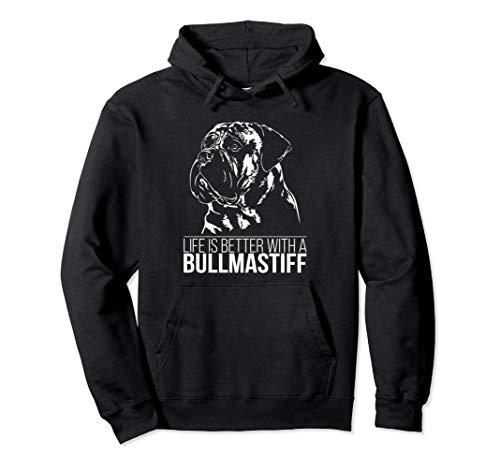Bullmastiff life is better Hund Hunde Mastiff Hundespruch Pullover Hoodie