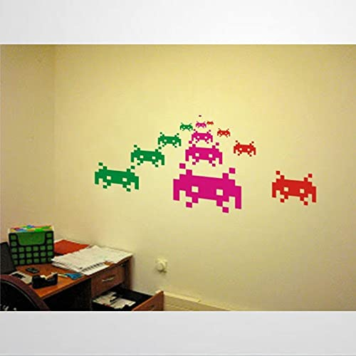 Space Invaders Pixel Criaturas Pegatinas de pared Art Decor Atari Computer Videojuego...