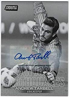 2018 Topps Stadium Club MLS Soccer Autographs Black and White #32 Andrew Tarbell AUTO