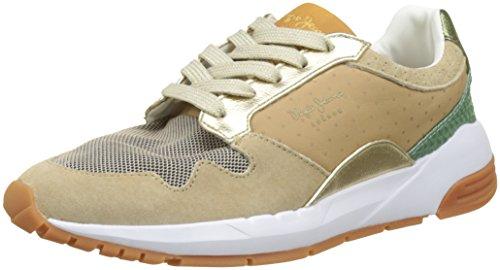 Pepe Jeans London Damen Foster ITACA Sneaker, Beige (Camel), 37 EU