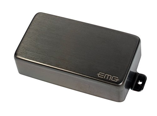 EMG 81 E-Gitarren Humbucker Tonabnehmer Edelstahl Brushed schwarz/chrome