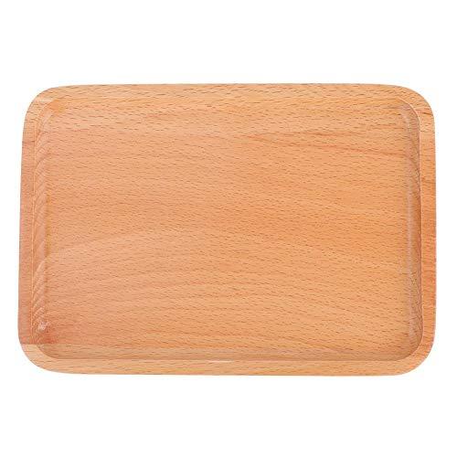 4 Größen Große Buche Platte Quadrat Holz Tablett Obst Brot Snack Tablett Dessert Kuchen Platte(25 * 17 * 1.5cm)
