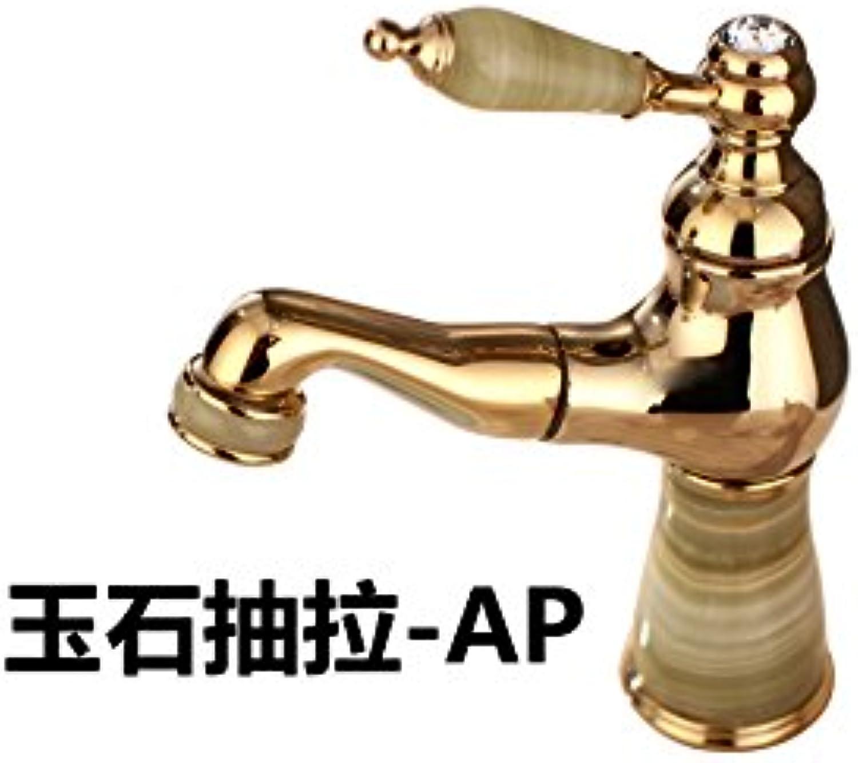 Maifeini Toilette Hahn_Explosionen Jade Becken Mixer-Style Zapfhhne Gold Drawing-Quality Jade