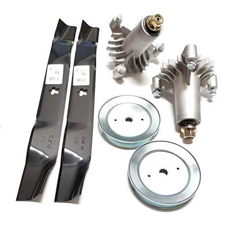 Raisman LT1000106,7cm Rebuild-Kit ersetzt 130794Deck Spindeln, 134149Mulchen Klingen, 129861Riemenscheiben
