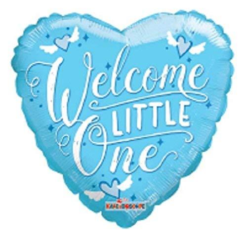 Karten Fülle, Online Herz 45,7cm Baby Boy Folie Helium Ballon (nicht aufgeblasen)–Blau Welcome Little One