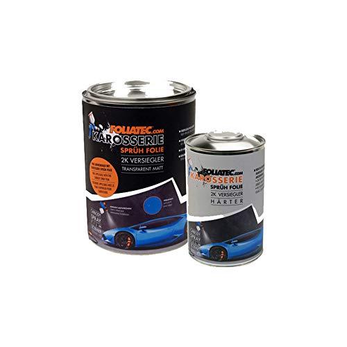 Foliatec F20985 Carbody Spray Film (Sprühfolie) Versiegler-klar matt-2x Sealer + 1x 1L Härter