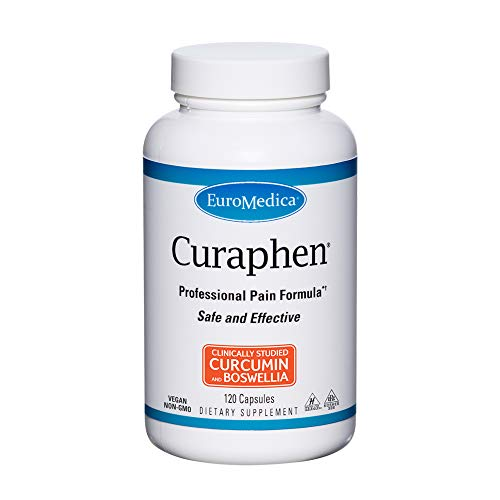 EuroMedica Curaphen - 120 Capsules - Professional Pain Formula - Potent Curcumin & Boswellia with DLPA & Nattokinase - Clinically-Studied Ingredients, Highly Absorbable - 120 Servings