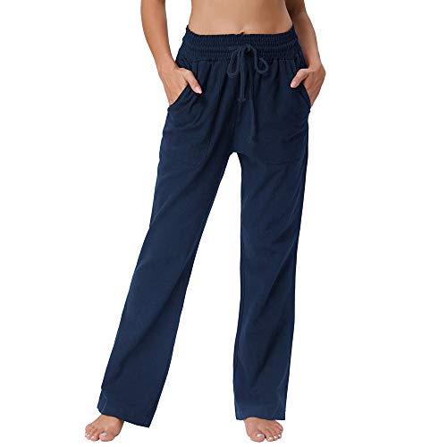 GRACE KARIN Pantalones de Mujer Elegante Recto Cintura Alta Slim Casual Material EláStico Cintura AlgodóN
