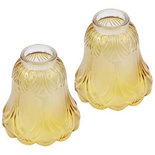 FRCOLOR - Ventilador de techo de cristal con forma de campana de cristal de repuesto para lámpara de pared